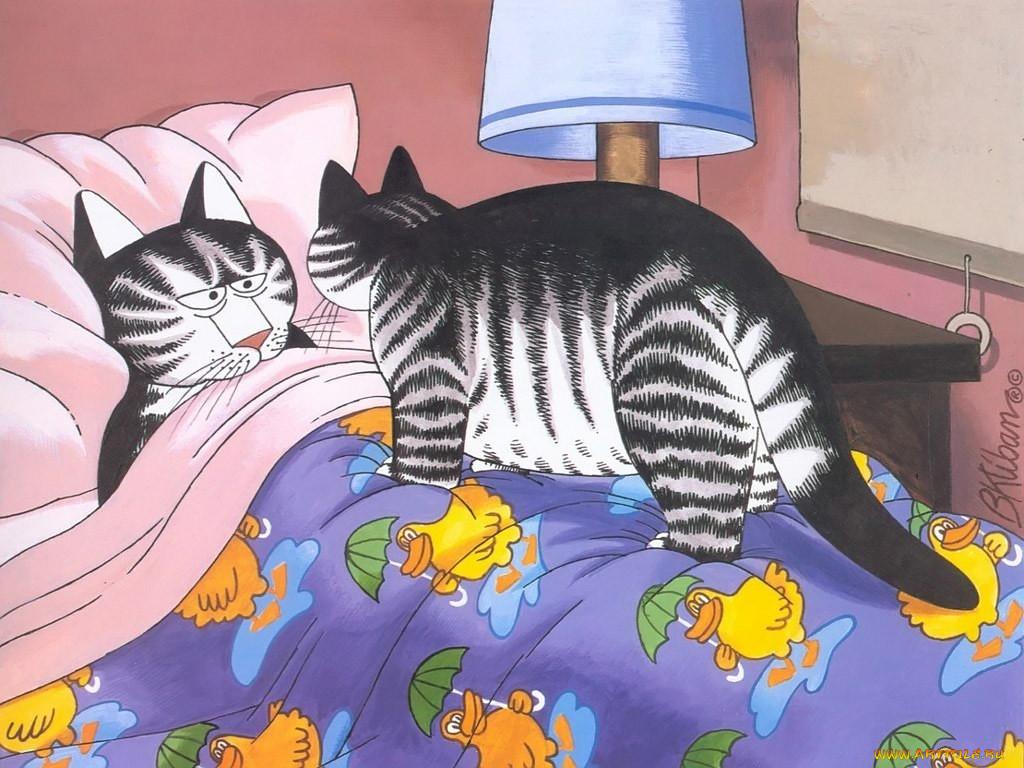 первые картинки с котами и кошками мультяшными отличие традиционного